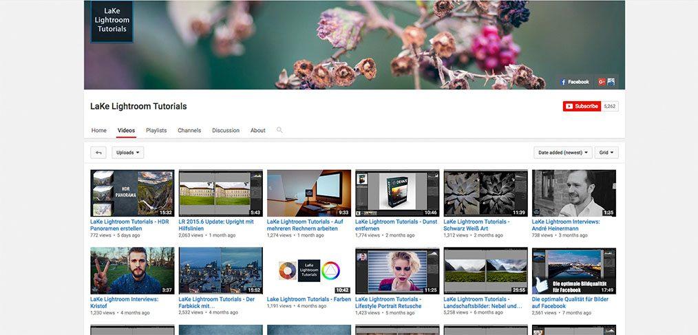 Youtube Tutorial Kanal