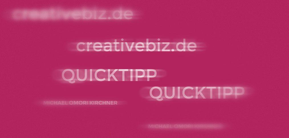 Quicktipp Fotografie