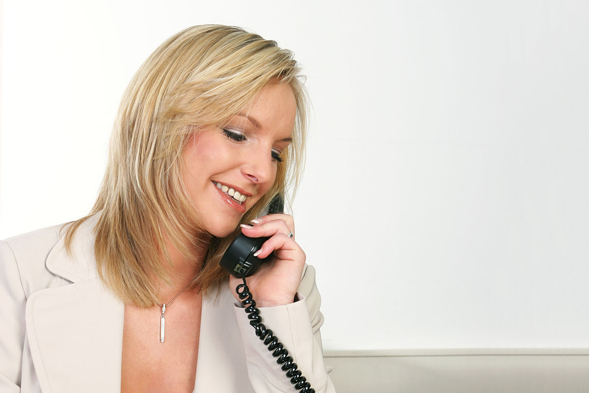 Business PositionierungFrau Telefon