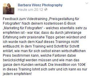 Preisgestaltung Fotografen