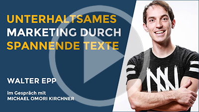 Unterhaltsames Marketing spannende Texte
