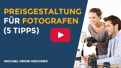 Preisgestaltung Fotograf